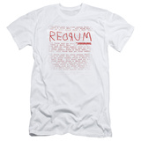 The Shining/Redrum Scrawl Slim Fit T-shirts