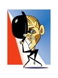 Bob Fosse - Cartoon Premium Giclee Print by Tom Bachtell
