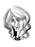 Laura Dern - Cartoon Regular Giclee Print by Tom Bachtell