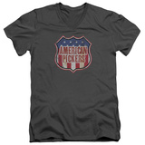American Pickers- Vintage Logo Shield V-Neck T-shirts