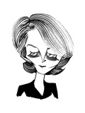 Charlotte Rampling - New Yorker Cartoon Premium Giclee Print by Tom Bachtell