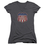 Juniors: American Pickers- Vintage Logo Shield V-Neck T-shirts