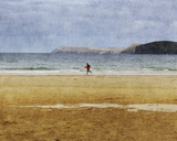 Beach Surf Giclee Print by Pete Kelly