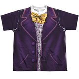 Youth: Willy Wonka And The Chocolate Factory- Wonka Costume Tee Shirts