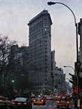 The Flatiron at Dusk Giclee Print by Pete Kelly