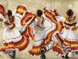Folkloric Latin Dancers Giclée-tryk af Mark Chandon