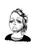 Lezley McSpadden - Cartoon Regular Giclee Print by Tom Bachtell