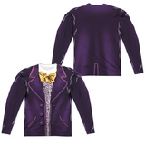 Long Sleeve: Willy Wonka And The Chocolate Factory- Wonka Costume Tee (Front/Back) Long Sleeves