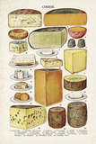 Vintage Cheese Giclee Print by  The Vintage Collection