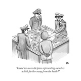 """Could we move the piece representing ourselves a little farther away from..."" - New Yorker Cartoon Premium Giclee Print by Paul Noth"