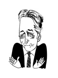 Jon Stewart - Cartoon Giclee Print by Tom Bachtell