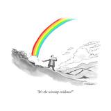 """It's the wiretap evidence!"" - Cartoon Premium Giclee Print by Pat Byrnes"
