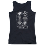 Juniors Tank Top: Harry Potter- Horcrux Symbols T-shirts