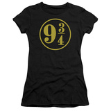 Juniors: Harry Potter- 9 3- 4 Emblem T-shirts