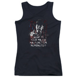 Juniors Tank Top: Full Metal Jacket/What Is You Malfunction Numbnuts T-shirts