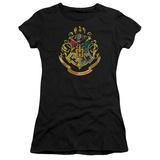 Juniors: Harry Potter- Hogwarts Crest (Premium) T-Shirt