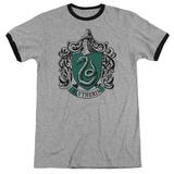 Harry Potter- Slytherine Crest Ringer T-shirts