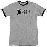 Harry Potter- Muggle Label Ringer T-shirts