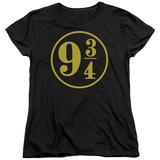 Womans: Harry Potter- 9 3- 4 Emblem T-Shirt