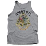 Tank Top: Harry Potter- Hogwarts Distressed Crest Tank Top