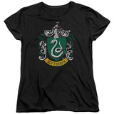 Womens: Harry Potter- Slytherin Crest T-shirts