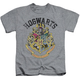 Juvenile: Harry Potter- Hogwarts Distressed Crest T-Shirt