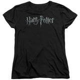 Womans: Harry Potter- Monochrome Logo Shirt