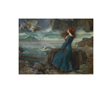 Miranda -The Tempest Premium Giclee Print by John William Waterhouse