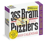 Mensa 365 Brain Puzzlers Page-A-Day - 2018 Boxed Calendar Calendars