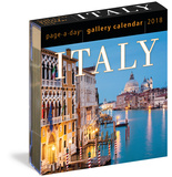 A Year In Italy Color Page-A-Day - 2018 Boxed Calendar Kalendere