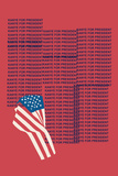 Kanye For Prez 2016 (Red) Poster