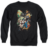 Crewneck Sweatshirt: Justice League- Battle Ready T-shirts