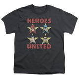 Youth: Justice League- United Heroes Stars T-Shirt