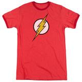 Justice League America-Flash Logo Ringer Shirts