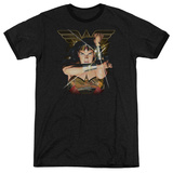 Wonder Woman- Deflecting Bullets Ringer T-shirts