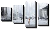La Gare *Exclusive* Bedruckte aufgespannte Leinwand von Aziz Kadmiri