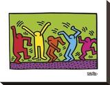 Untitled, 1987 (dance) Reproducción de lámina sobre lienzo por Keith Haring