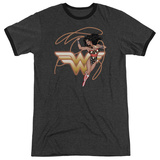 Wonder Woman- Shining Hero Ringer T-shirts