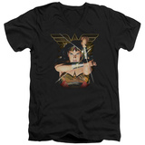 Wonder Woman- Deflecting Bullets V-Neck V-Necks