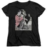Womens: Elvis - Rock N Roll Smoke T-shirts