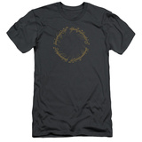Lord Of The Rings- One Ring Inscription Slim Fit T-shirts