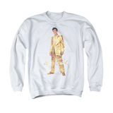 Crewneck Sweatshirt: Elvis Presley - Gold Lame Suit Shirts