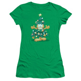 Juniors: Garfield- Holiday Tree Shirt