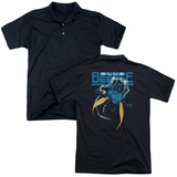 Polo: Blue Beetle- Fierce Flight (Back Print) T-shirts