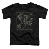 Toddler: Lord Of The Rings- Middle Earth Map T-shirts