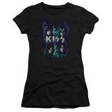 Juniors: Kiss - Colorful Fier Shirts