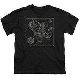 Youth: Lord Of The Rings- Middle Earth Map Shirts