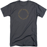 Lord Of The Rings- One Ring Inscription (Big & Tall) T-shirts