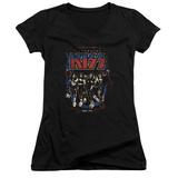 Juniors: Kiss - Destroyer V-Neck Shirt