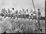 Lunch uppe på en skyskrapa, ca 1932 Sträckt kanvastryck av Charles C. Ebbets